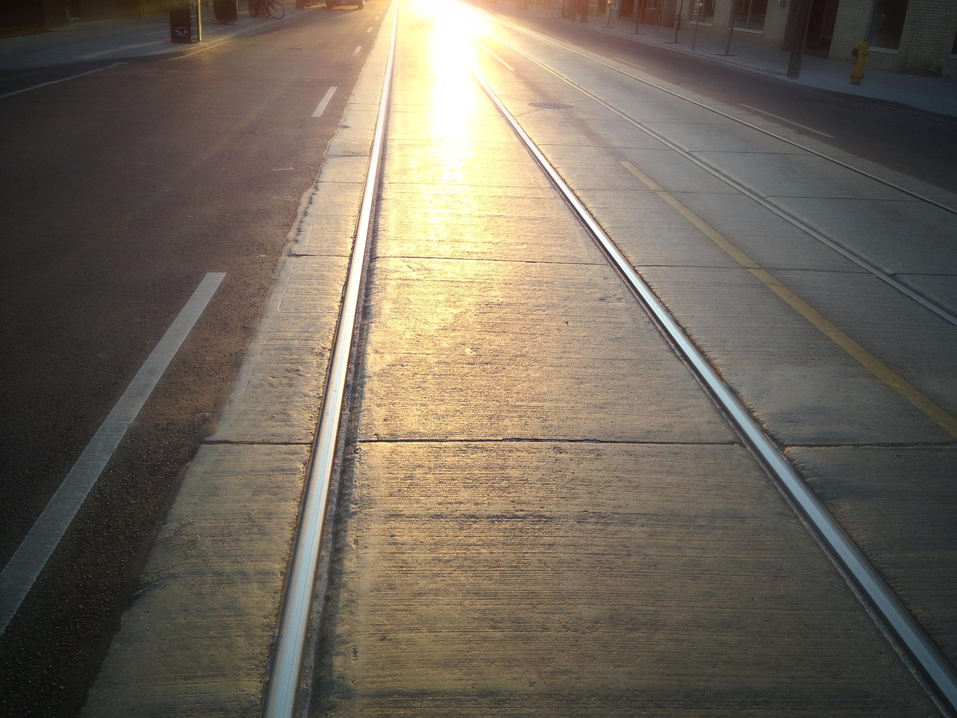 Streetcar track light